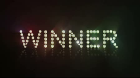 vencedor : Animated lights spelling out Winner Loopable