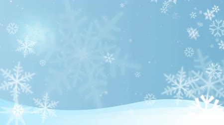 sniezynka : Winter themed looping background Wideo