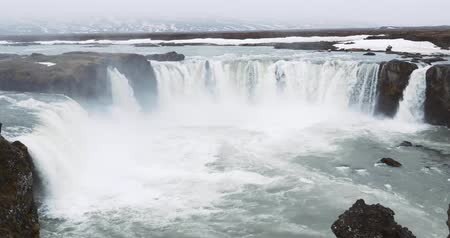 islandia : Godafoss waterfalls, Iceland Wideo
