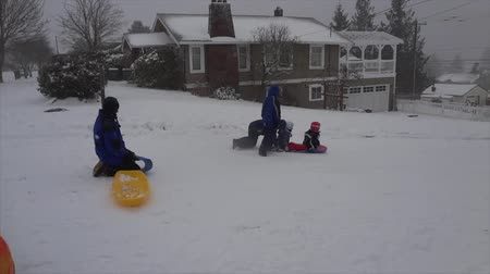 Kids on a snow day