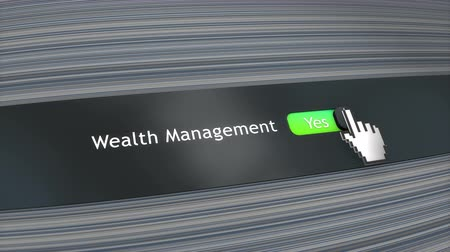 kursor : Application setting Wealth management Wideo