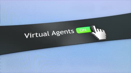 kursor : Application setting Virtual agents. Wideo