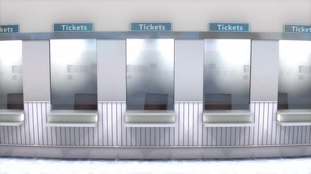 airport bus : Ticket counter booth