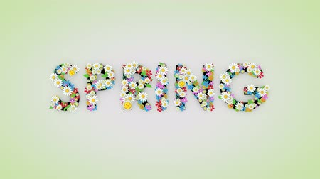 anual : Spring season floral text animation