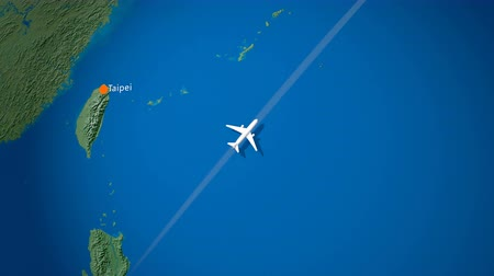 pas : Air travel flying route destination, Philippine, Japan. Dostupné videozáznamy