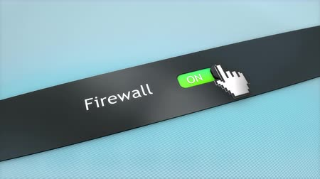 kapcsoló : Application setting Firewall Stock mozgókép