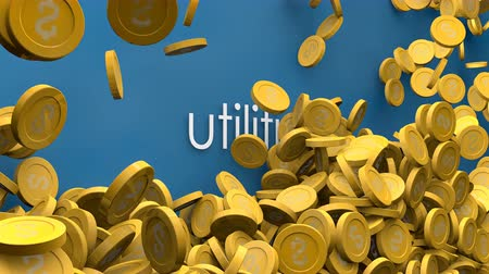возвращение : Utilities cost increasing animation. Стоковые видеозаписи