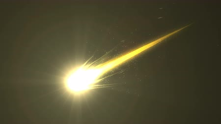 meteorite : Brilliant bright beautiful close up view gold comet, Iron element.