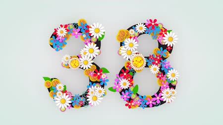 otuzlu yıllar : Numerical digit floral animation, 38.