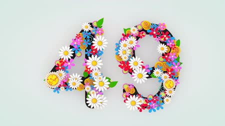 devět : Numerical digit floral animation, 49.