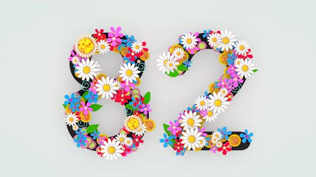 第2 : Numerical digit floral animation, 82.