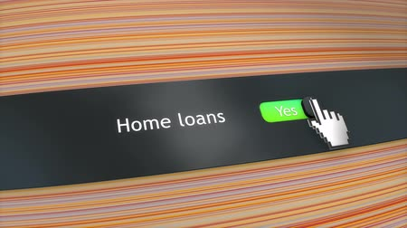 igen : Application setting Home loans Stock mozgókép