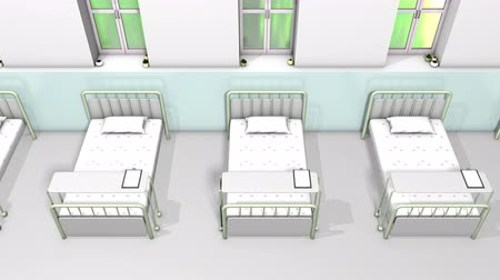 rehab : Hospital ward bed
