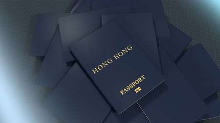 pasaport : Artist rendering Hong Kong travel passport.