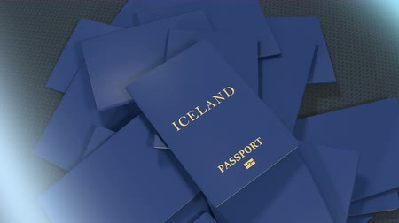pasaport : Artist rendering Iceland travel passport.
