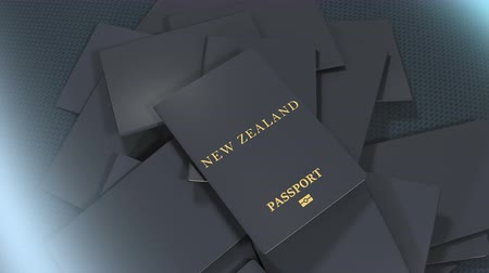 pasaport : Artist rendering New Zealand travel passport.