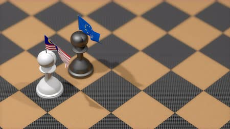 peão : Chess Pawn with country flag, Malaysia, European Union. Vídeos