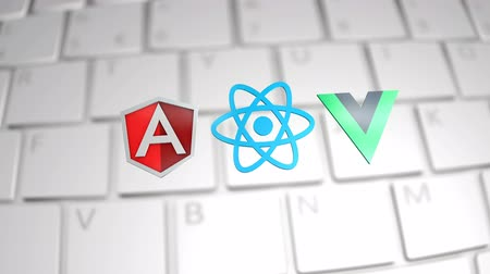 угловой : January 2019, Editorial Angular React Vue JavaScript Стоковые видеозаписи