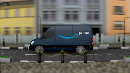 camionnette : Avril 2019, Editorial Prime van delivery vehicle. Vidéos Libres De Droits
