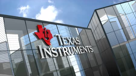 полупроводник : March 2019, Editorial use only, Texas Instruments logo on glass building.