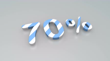 числовой : Colour stripes 70 percent numerical background animation