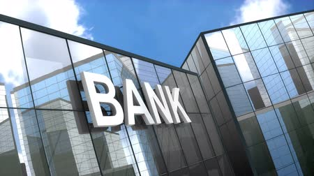 consulenza : Bank building blue sky time-lapse.