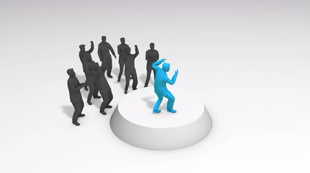 follower : Concept animation leadership figure performing infront supporter Stock Footage