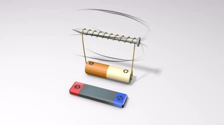 magnets : Magnetic field from battery coils