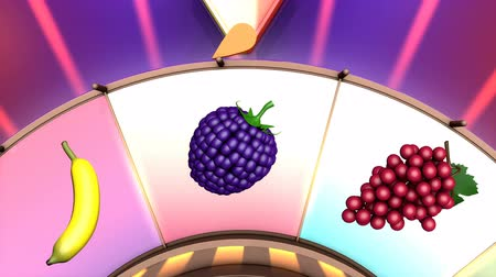 ruletka : Children video animation, Wheel of fruit Pineapple