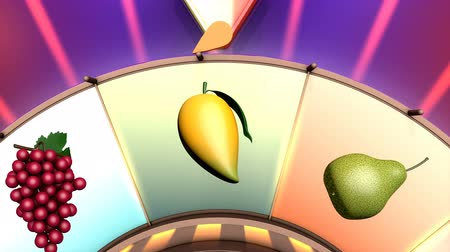ruletka : Children video animation, Wheel of fruit Tangerine Wideo
