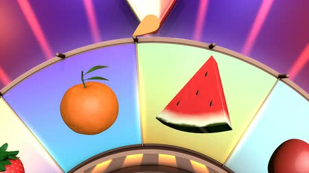 ruletka : Children video animation, Wheel of fruit