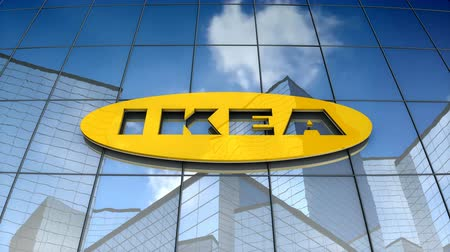 assemblea : September 2017, Editorial use only, 3D animation, IKEA logo on glass building.