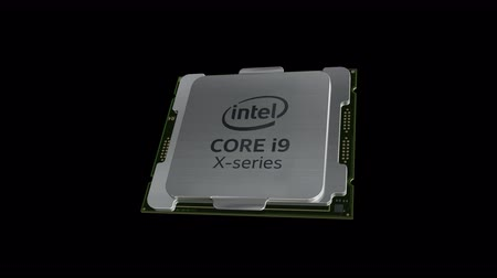 chips : October 2017, Editorial use only, 3D animation, Intel Core i9 Series.