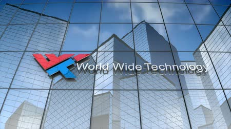 September 2017, Editorial use only, 3D animation, World Wide Technology logo on glass building.