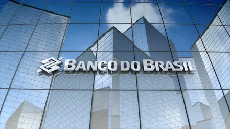 December 2017, Editorial use only, 3D animation, Banco do Brasil S.A. logo on glass building.