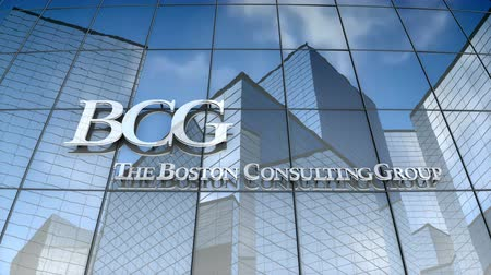 September 2017, Editorial use only, 3D animation, Boston Consulting Group logo on glass building. Vídeos