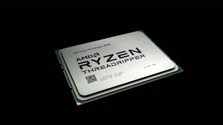 только : August 2017, Editorial use only, 3D animation, AMD Ryzen Threadripper computer processor. Стоковые видеозаписи