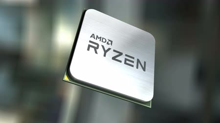 mikroişlemci : July 2017, Editorial use only, AMD Ryzen. Stok Video