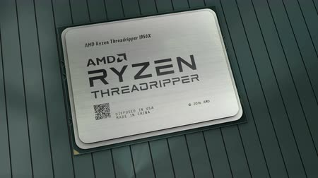 August 2017, Editorial use only, 3D animation, AMD Ryzen Threadripper computer processor. Vídeos