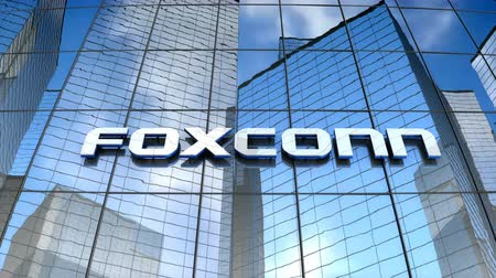 August 2017, Editorial use only, Foxconn logo on glass building.