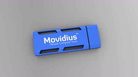 intel : August 2017, Editorial use only, Intel Movidius Neural Compute Stick 3D animation.