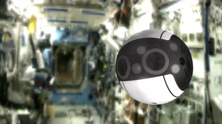 intuição : August 2017, Editorial use only, JAXA Int-Ball, International Space Station. 3d animation. Stock Footage