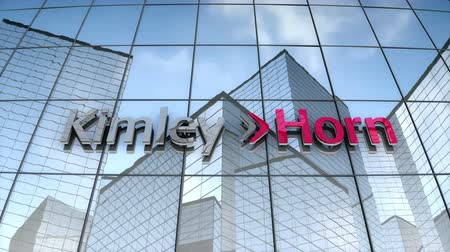 September 2017, Editorial use only, 3D animation, Kimley-Horn logo on glass building.