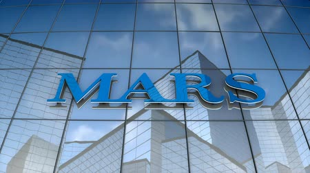 September 2017, Editorial use only, 3D animation, MARS logo on glass building.