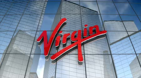 August 2017, Editorial use only, Virgin Group Ltd. logo on glass building.