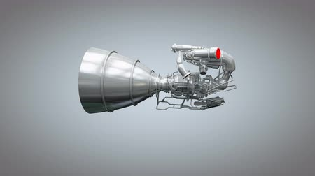 referência : Computer generated, Artist concept rendering rocket engine model.