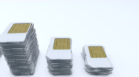 gsm : Computer generated, mobile telecommunication sim card.