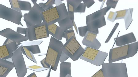 telecoms : Computer generated, mobile telecommunication sim card.