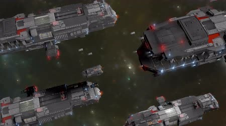 fleet : Computer generated, Sci-fi spaceship fleet.
