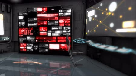 command : Computer generated, Starship command room, science fiction spaceship control room.
